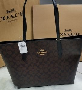 COACH Avenue Tote brown and black